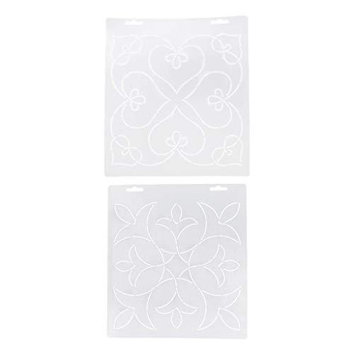 perfk 2er/ Set Quiltschablone Patchworkschablone Quilting Schablone Quilt Vorlage DIY Handwerk -
