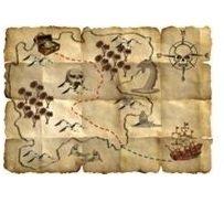 Folat Piraten Schatzkarten Dekoration