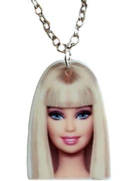 Pretty Acryl Barbie Anhänger Schmuck Halskette von pashal