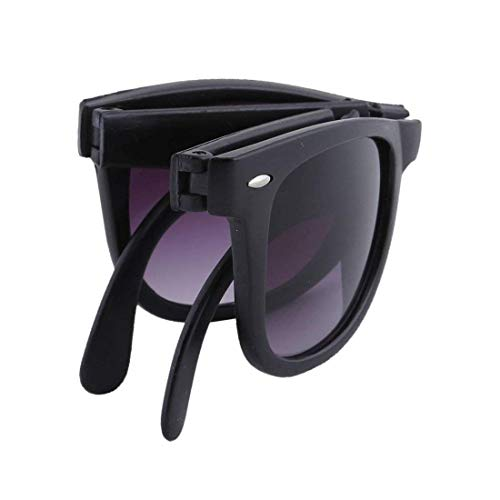 Mishty Men\'s Foldable Plastic Sunglasses (Purple,Medium)