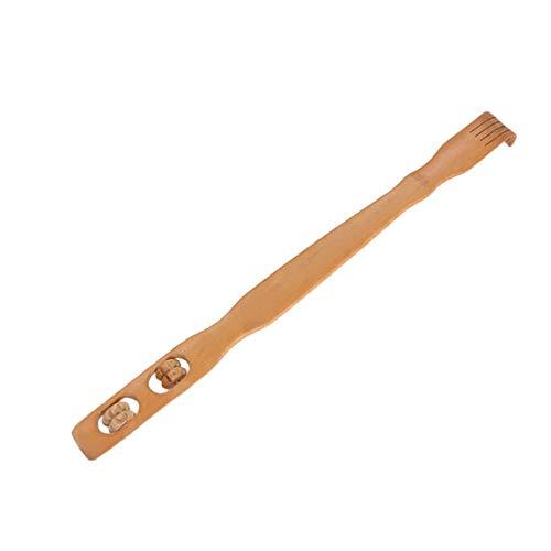 Praktisches Design Natürliche Holz Bambus Körpermassage Zurück Scratcher Männer Frauen Körper Stick Dual Roller Rückenmassagegerät (farbe: holz farbe) - Roller Rückenmassagegerät