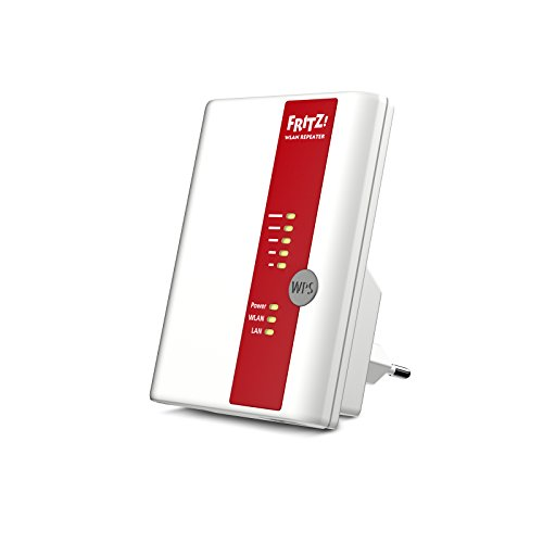 AVM FRITZ!WLAN Repeater 450E, Range Extender Wi-Fi Universale , Wireless fino a 450 Mbit/s, Access Point, Bridge, 1 LAN Gigabit, Software ed istruzioni in Italiano