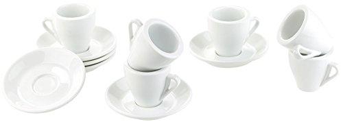 Rosenstein & Söhne Kaffeetasse: Porzellan Espressotassen-Set, 12-teilig (Opal-Geschirr)