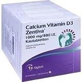 CALCIUM VITAMIN D3 Zentiva 1000 mg/880 I.E.Kautab. 100 St