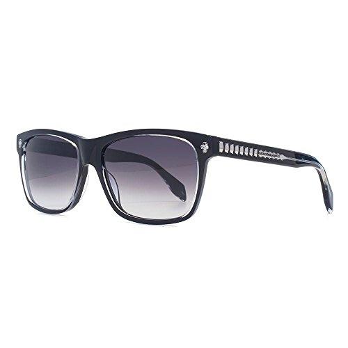 Alexander McQueen Ghost Skull Square Sonnenbrille in schwarz AM0025S 001 57 57 Gradient Grey
