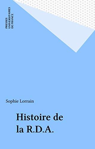 Histoire de la R.D.A.