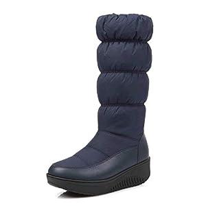 XPFXPFX Sport Freizeit Modetrend im Freien Mode Winter Schnee Stiefel Plattform Schuhe Schuhe Frauen Stiefel Einfarbig Reißverschluss Weiß