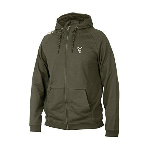 Fox Collection Green/Silver LW Hoodie - Pullover für Karpfenangler & Wallerangler, Kapuzenpullover, Hoody, Kapuzenpulli, Größe:M -
