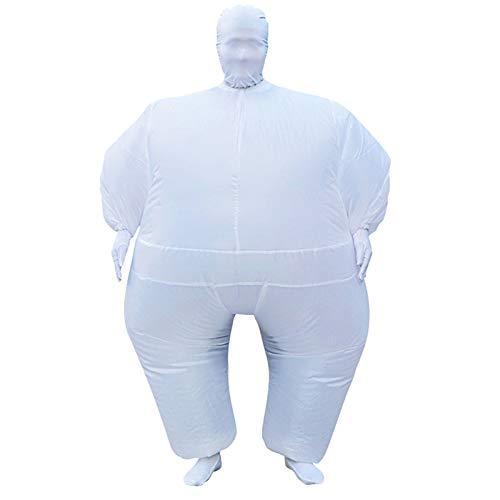 Takefuns Aufblasbares Ganzkörper-Kostüm für Erwachsene, lustiges Kostüm, Cosplay-Pullover, Partyspielzeug, Geschenk für Männer und Frauen - Lila Lustige Aufblasbare Kostüm