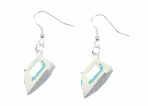Bügeleisen Ohrringe Miniblings Ohrhänger Bügeln Haushalt Schneiderin Wäsche weiß