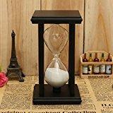 Zantec Sanduhr 30 Minuten, Holzrahmen Sand Sanduhr Sanduhr Timer Uhr Dekor Weihnachten Home Geschenk schwarz-weißen Sand