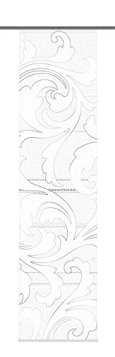 Home Fashion Flint 87725-703 deslizante de mujer con esfera decorada cortina de Panel Peso y raíl de 245 x 60 cm gris impresión Digital
