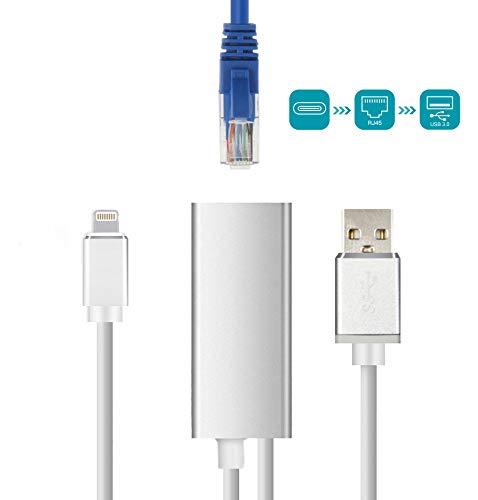 Brong RJ45 Ethernet Adapter,10/100 / 1000 Mbps Superschnelles Speed LAN Netzwerk Adapter kompatibel mit iPhone und iPad