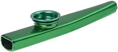 Mirliton - SODIAL(R) Mirliton de aleacion de aluminio con membrana Verde