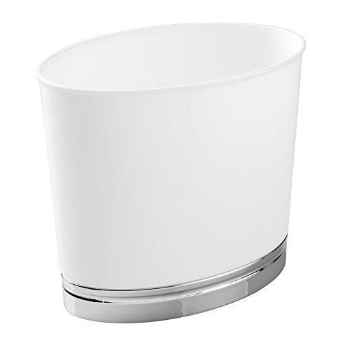 interdesign-48517eu-york-corbeille-a-dechets-ovale-plastique-blanc-273-x-159-x-2504-cm