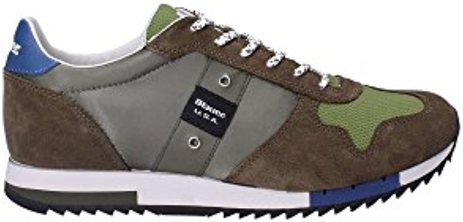 BLAUER SHOES 8SQUINCY01/NYL Turnschuhe Man Verde 40
