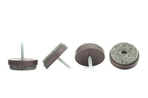 28 mm Kunststoff Filz Schutzpads mit Schraube für Möbel, Tisch, Stühle, Gewerbe (Restaurant, Cafe, etc.) und Heimgebrauch, hergestellt in Deutschland -