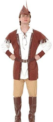 erdbeerloft - Herren Karnevalskomplettkostüm Robin Hood , M-L, (Kostüme Machen Stiefelstulpen)