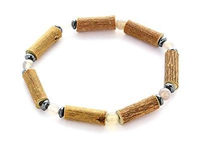 Bracelet de Noisetier | Agate Grise | Hématite | Modèle 1 | 14cm