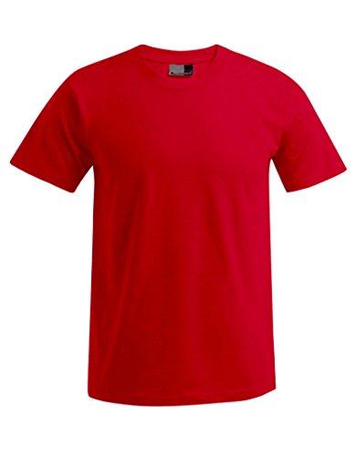 Premium T-Shirt Plus Size Herren, 4XL, Rot