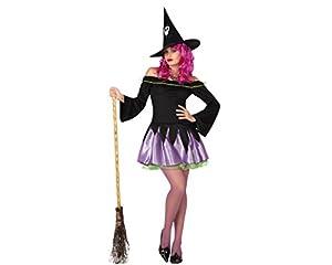 Atosa 26204 - traje de bruja para las mujeres, tamaño 42/44 (XL), negro / púrpura