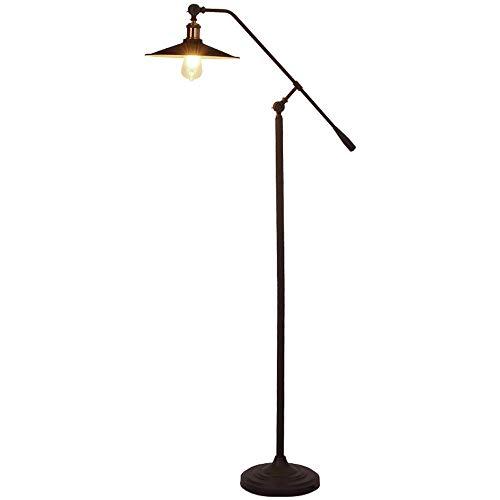 Loft Swing Arm (Vintage Steampunk Swing Arm vertikales Licht, industrielle Wind Retro Wasser Rohr Lampen, American Village Loft Wohnzimmer Schlafzimmer Buch Stehlampe - 2 Gelenke angepasst (schwarz))