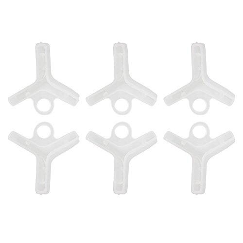 Beautyrain 100 Stücke Angeln Drillinge 5Size Safety Halter Schutzhülle Portable Caps Assorted PE Weiß
