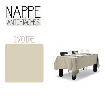 Nappe anti taches Ivoire 150X300