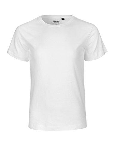 -Neutral- Kids Short Sleeved T-shirt, 100{71bb311130bff4f7c64dd3b422a75ccb30eb0209d1a3c5f308bb843d09cfab25} Bio-Baumwolle. Fairtrade, Oeko-Tex und Ecolabel zertifiziert, Textilfarbe: weiss, Gr.: 128