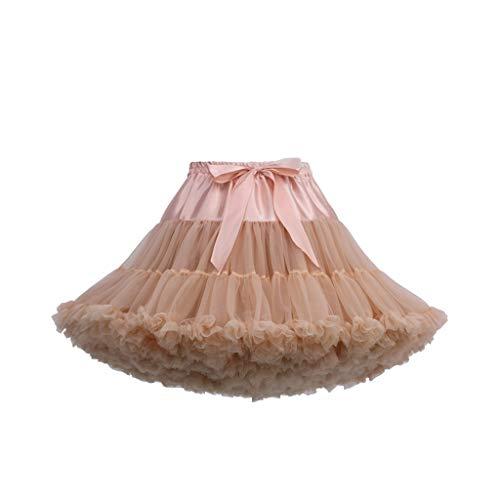 VJGOAL Damen Röcke, Frauen Mädchen Solid Mesh Tutu Süß Süßigkeitenfarbe Partykleid Minikleid Ballrock(J,One Size)