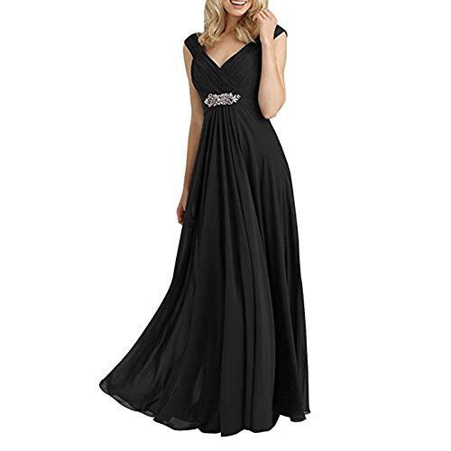 Applikationen Perlen Tanz Für Kostüm - TLMYDD Chiffon Taille Abendkleid Prinzessin Kleid Kleid Weibliche Kostüm Party Party Abendkleid Hochzeitskleid (Color : D, Size : 6)