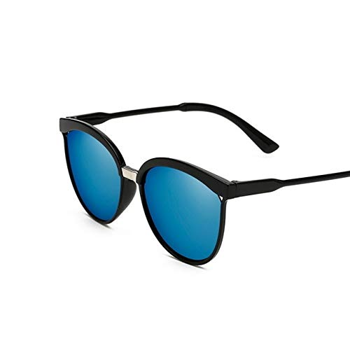 ZCFDMJ Sonnenbrillen Mode Cat Eye Sonnenbrille Frauen Übergroße Vintage Sonnenbrille Für Damen Retro Markendesigner Farbe ObjektivBlaue Linse