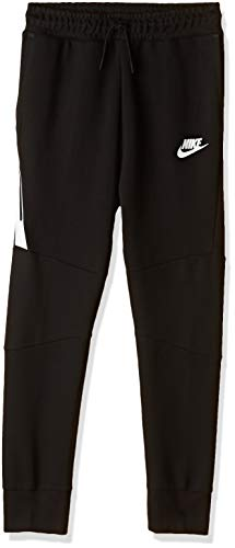 Nike Jungen Sportswear Tech Fleece-Hose, Black/White, L
