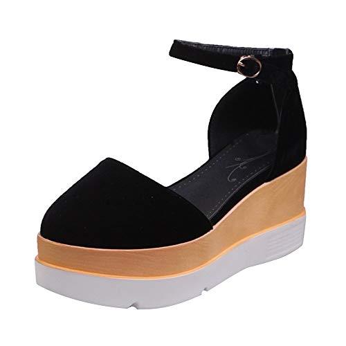 LuckyGirls Zapatos Informales para Mujer Casual Calzado Zapatillas de Suela Gruesa 6.5cm