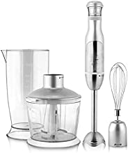 HOMETRONICS Immersion Hand, U talent 5-in-1 8-Speed Stick Blender with 500ml Food Grinder, BPA-Free, 600ml Con