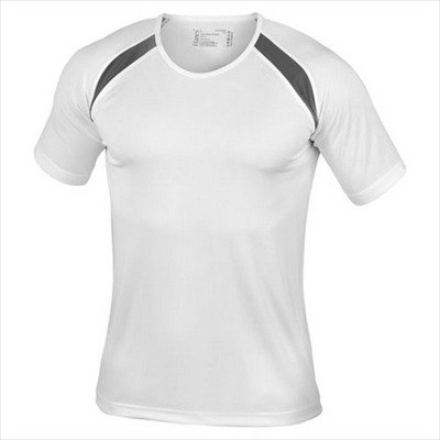 Hanes - Men's Tagless Crew Neck T Contrast Sports L,White