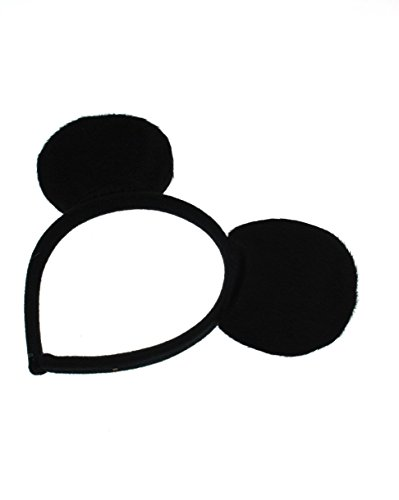 Image of Zac's Alter Ego® Black Mouse Ears Headband for Adults and Children