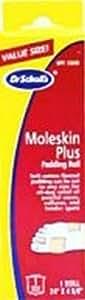 Dr. Scholl's Rouleau de rembourrage pour les pieds en moleskin - 610 mm x 118 mm (Ensemble de 3)