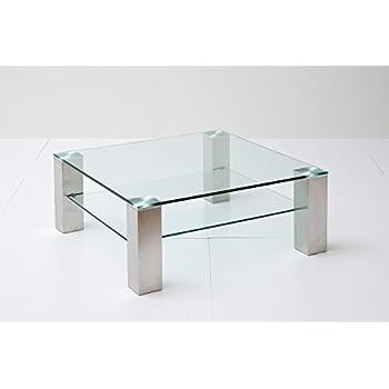 Couchtisch, Beistelltisch, Wohnzimmertisch, Glas + Ablage ...