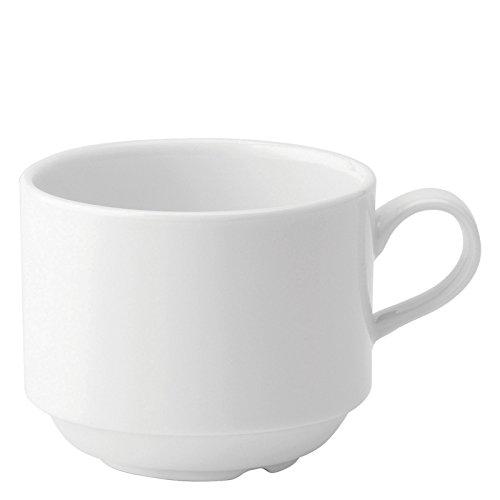 Utopia Anton Noir en porcelaine fine Z03074-000000-b01006 empilage Tasse, 7,5 g (lot de 6)