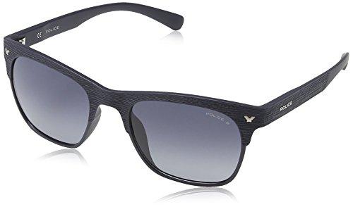 Police S1950 Game 2 Wayfarer Sonnenbrille, SEMI MATT DARK BLUE FRAME/SMOKE GRADIENT LENS