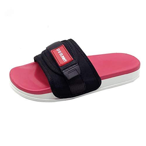 Sandali scarpe da spiaggia pantofole punta aperta spessa fondazione trendy coppia antiscivolo (35 eu,rosso)
