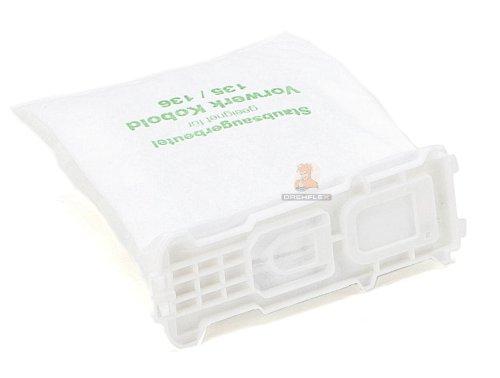 12 Staubsaugerbeutel aus Vlies passend für Vorwerk - Kobold 135/136 / 135SC / VK135 / VK135 - DREHFLEX® -