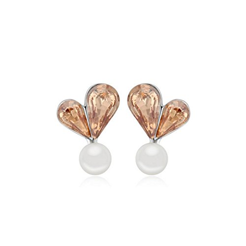Erica Plaqué or mousseux autrichienne Crystal Stud boucles d'oreilles le cadeau idéal pour les femmes filles mariage #3