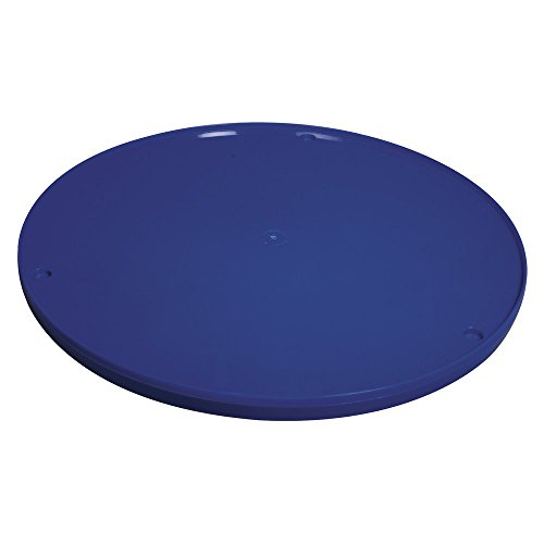 Rayher 8925900 Drehscheibe, 28 cm ø, blau, aus Kunststoff, zum Töpfern, Malen usw. manuell betriebene Kunststoff-Töpferscheibe, Malscheibe, Modellierscheibe