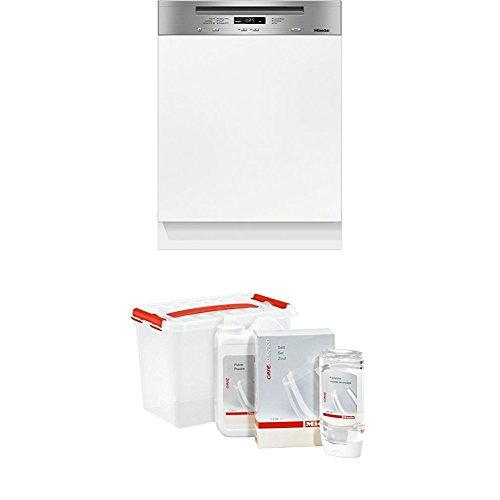 Miele G6200 Sci D ED230 2,0 clst Geschirrspüler Teilintegriert + GSA Geschirrspülerzubehör/Starter-Paket bestehend aus 1,5 kg Regeneriersalz, 500 ml Klarspüler /Inklusive parktischer Aufbewahrungsbox