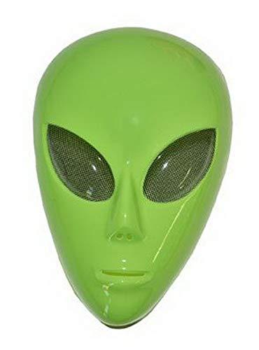 costumebakery - Kostüm Accessoires Zubehör Horror Maske Alien Außerirdischer, perfekt für Halloween Karneval und Fasching, Grün (Alien Schwanz Kostüm)