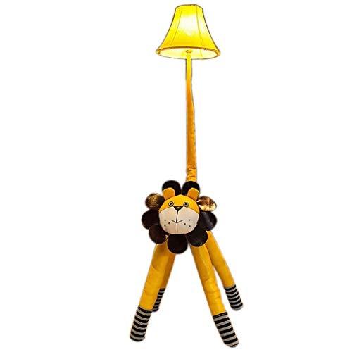 Lámpara de pie León de dibujos animados lámpara de pie, control remoto de cuero creativo oscurecimiento sala de estar habitación de los niños cafetería decoración lámpara de mesa