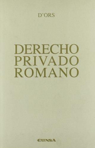 Derecho privado romano (Manuales (Universidad de Navarra. Facultad de Derecho))