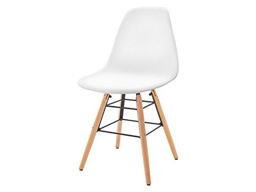 "Esszimmerstuhl Küchenstuhl Essstuhl Loungestuhl Stuhl Kunststoff ""Roslyn I"" Weiß"